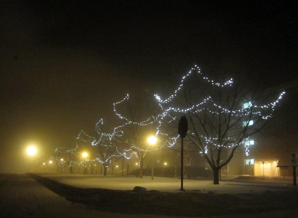 fairbanks alaska ice fog 50 below lights