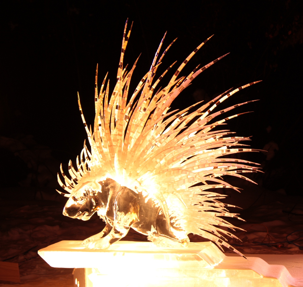 porcupine ice art 2012